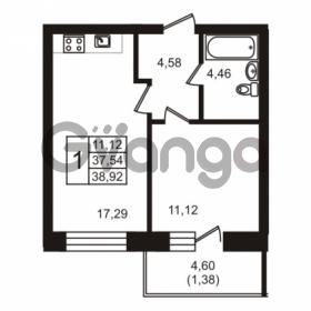 Продается квартира 1-ком 38.92 м² бульвар Менделеева 7, метро Девяткино