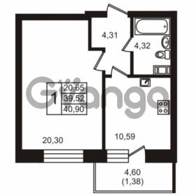 Продается квартира 1-ком 40.9 м² бульвар Менделеева 7, метро Девяткино