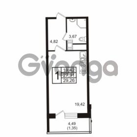 Продается квартира 1-ком 29 м² бульвар Менделеева 13, метро Девяткино