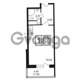 Продается квартира 1-ком 28 м² бульвар Менделеева 13, метро Девяткино