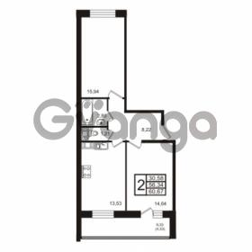 Продается квартира 2-ком 60 м² бульвар Менделеева 13, метро Девяткино