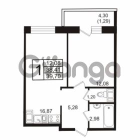 Продается квартира 1-ком 39 м² бульвар Менделеева 13, метро Девяткино
