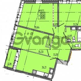 Продается квартира 3-ком 85 м² Камышинская улица 22к 2, метро Ладожская