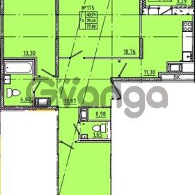 Продается квартира 3-ком 77 м² Камышинская улица 22к 2, метро Ладожская