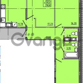 Продается квартира 3-ком 79 м² Камышинская улица 22к 2, метро Ладожская