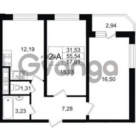 Продается квартира 2-ком 57.01 м² улица Шувалова 1, метро Девяткино