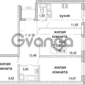 Продается квартира 3-ком 75 м² бульвар Менделеева 13, метро Девяткино