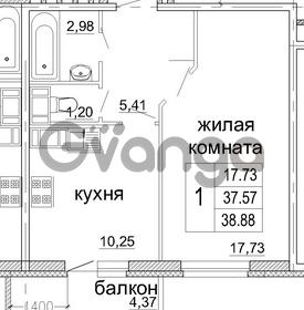 Продается квартира 1-ком 38 м² бульвар Менделеева 13, метро Девяткино
