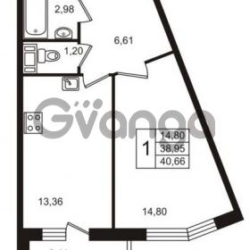 Продается квартира 1-ком 40.66 м² бульвар Менделеева 11, метро Девяткино