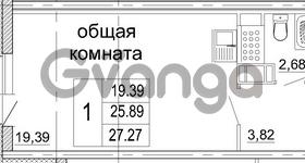 Продается квартира 1-ком 27 м² бульвар Менделеева 13, метро Девяткино