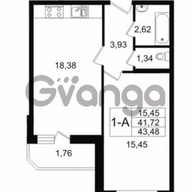 Продается квартира 1-ком 43 м² Графская улица 1, метро Девяткино