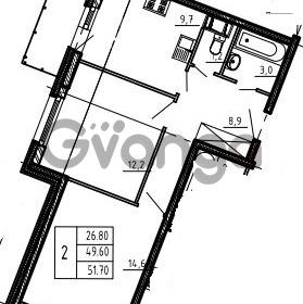 Продается квартира 2-ком 51 м² бульвар Менделеева 15, метро Девяткино