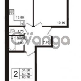 Продается квартира 2-ком 60 м² бульвар Менделеева 15, метро Девяткино