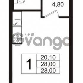Продается квартира 1-ком 28 м² бульвар Менделеева 15, метро Девяткино