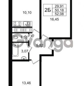 Продается квартира 2-ком 52 м² Графская улица 1, метро Девяткино