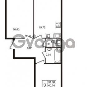 Продается квартира 2-ком 65 м² бульвар Менделеева 15, метро Девяткино