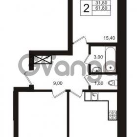 Продается квартира 2-ком 61 м² бульвар Менделеева 15, метро Девяткино