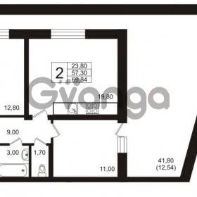 Продается квартира 2-ком 69 м² бульвар Менделеева 15, метро Девяткино