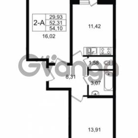 Продается квартира 2-ком 54 м² Графская улица 1, метро Девяткино