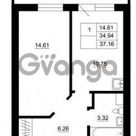 Продается квартира 1-ком 34 м² Гражданская улица 9, метро Девяткино