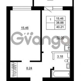 Продается квартира 1-ком 38 м² Гражданская улица 9, метро Девяткино