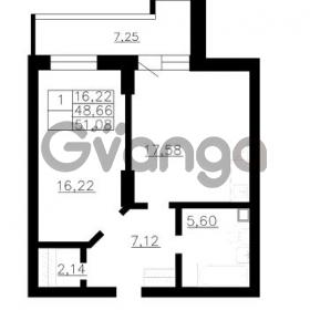 Продается квартира 1-ком 48 м² Гражданская улица 9, метро Девяткино