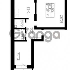 Продается квартира 2-ком 54 м² Гражданская улица 9, метро Девяткино