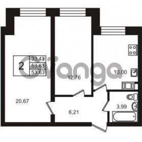 Продается квартира 2-ком 53 м² шоссе в Лаврики 74к 2, метро Девяткино