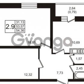 Продается квартира 2-ком 54 м² шоссе в Лаврики 74к 2, метро Девяткино