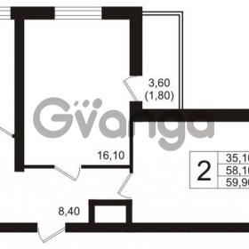 Продается квартира 2-ком 59 м² бульвар Менделеева 15, метро Девяткино