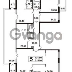 Продается квартира 5-ком 215.9 м² Пискаревский проспект 3, метро Площадь Ленина