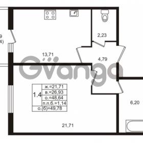 Продается квартира 1-ком 48 м² проспект Энергетиков 9, метро Ладожская