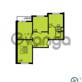 Продается квартира 3-ком 74.14 м² Ленинский проспект 69, метро Проспект Ветеранов