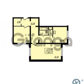 Продается квартира 2-ком 65.17 м² Ленинский проспект 69, метро Проспект Ветеранов
