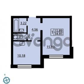 Продается квартира 1-ком 34.85 м² Ленинский проспект 69, метро Проспект Ветеранов
