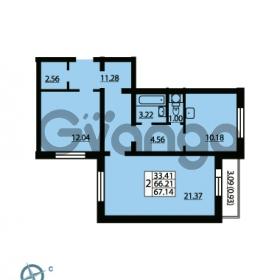 Продается квартира 2-ком 67.14 м² Ленинский проспект 69, метро Проспект Ветеранов