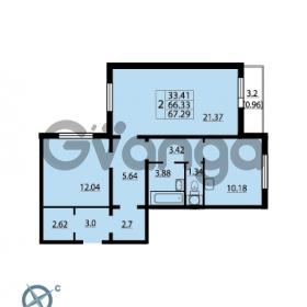 Продается квартира 2-ком 67.29 м² Ленинский проспект 69, метро Проспект Ветеранов
