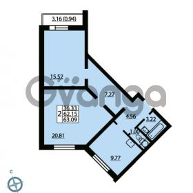 Продается квартира 2-ком 63.09 м² Ленинский проспект 69, метро Проспект Ветеранов