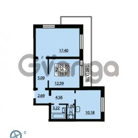 Продается квартира 2-ком 59.91 м² Ленинский проспект 69, метро Проспект Ветеранов