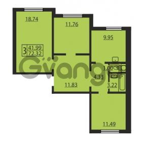 Продается квартира 3-ком 72.32 м² Ленинский проспект 69, метро Проспект Ветеранов