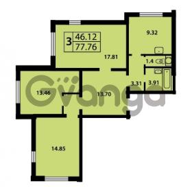 Продается квартира 3-ком 77.76 м² Ленинский проспект 69, метро Проспект Ветеранов