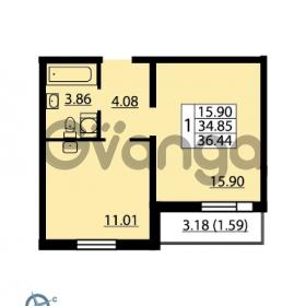 Продается квартира 1-ком 36.44 м² Ленинский проспект 69, метро Проспект Ветеранов