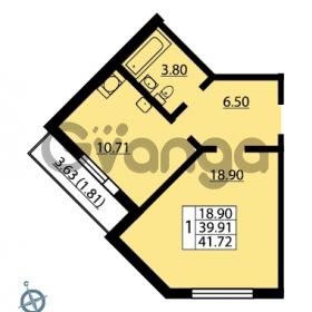 Продается квартира 1-ком 41.72 м² Ленинский проспект 69, метро Проспект Ветеранов