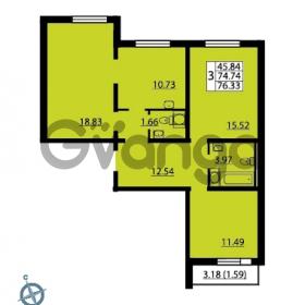Продается квартира 3-ком 76.33 м² Ленинский проспект 69, метро Проспект Ветеранов