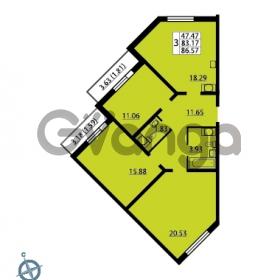 Продается квартира 3-ком 86.57 м² Ленинский проспект 69, метро Проспект Ветеранов