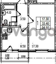 Продается квартира 1-ком 34 м² Муринская дорога 7, метро Гражданский проспект