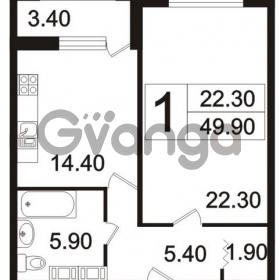 Продается квартира 1-ком 49.9 м² Пискаревский проспект 3, метро Площадь Ленина