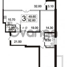 Продается квартира 3-ком 92.6 м² Пискаревский проспект 3, метро Площадь Ленина