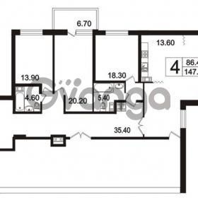 Продается квартира 4-ком 147.7 м² Пискаревский проспект 3, метро Площадь Ленина