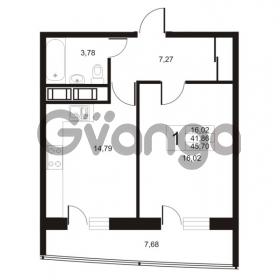 Продается квартира 1-ком 45.7 м² улица Катерников 1, метро Проспект Ветеранов